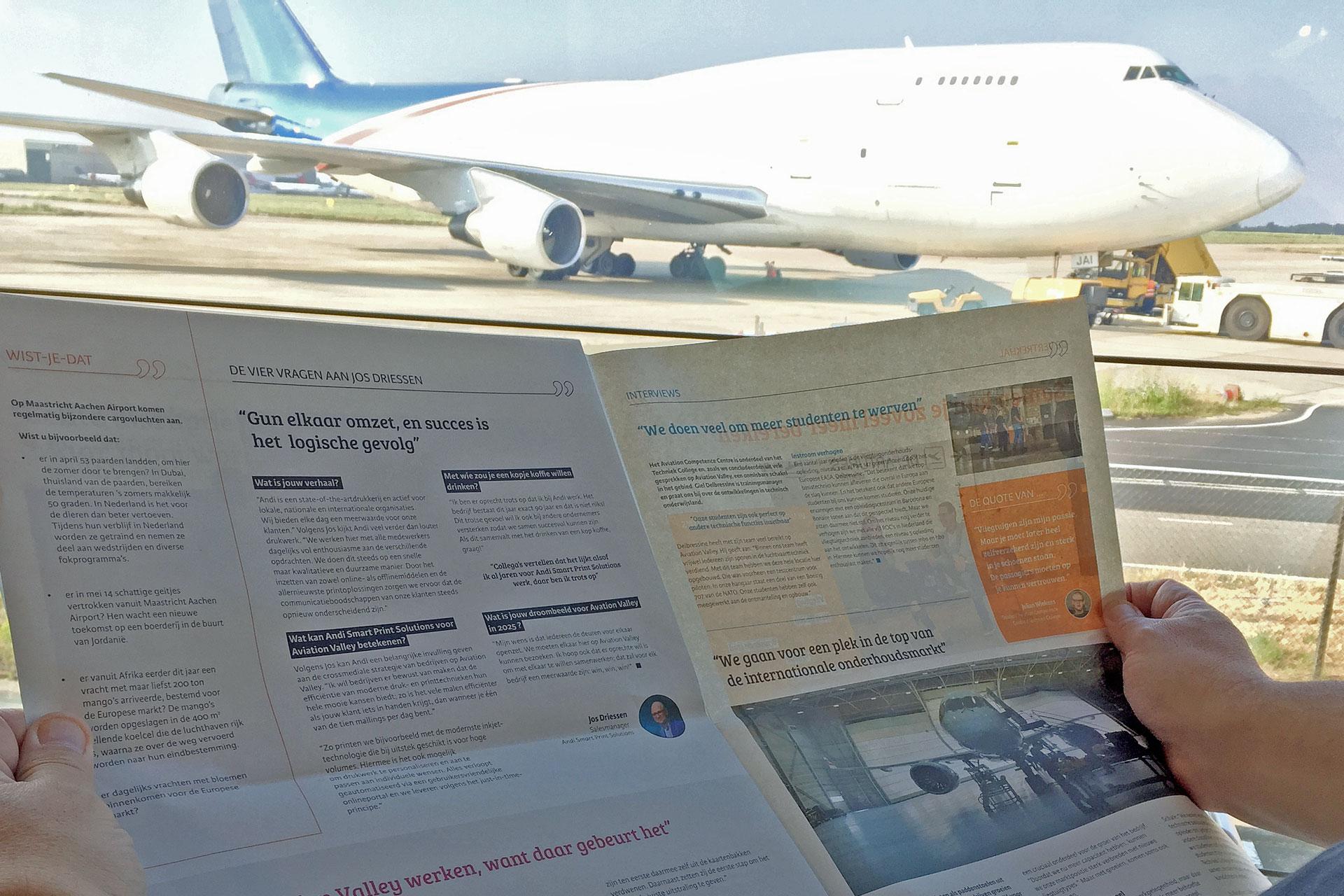 Nieuwe kwartaalkrant 'Quotes' made by Andi, van en voor ondernemers Aviation Valley.