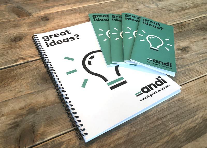 schrijfblokken en notitieboekje bedrukken in Limburg - andi print solutions